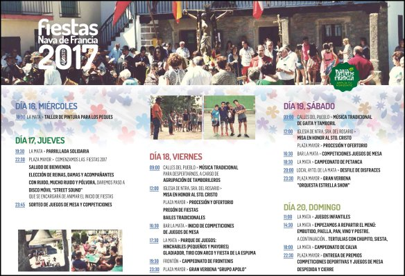 Programa Fiestas Nava de Francia 2017