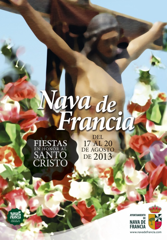 Cartel Fiestas nava de Francia 2013 - Juan José Díaz Len