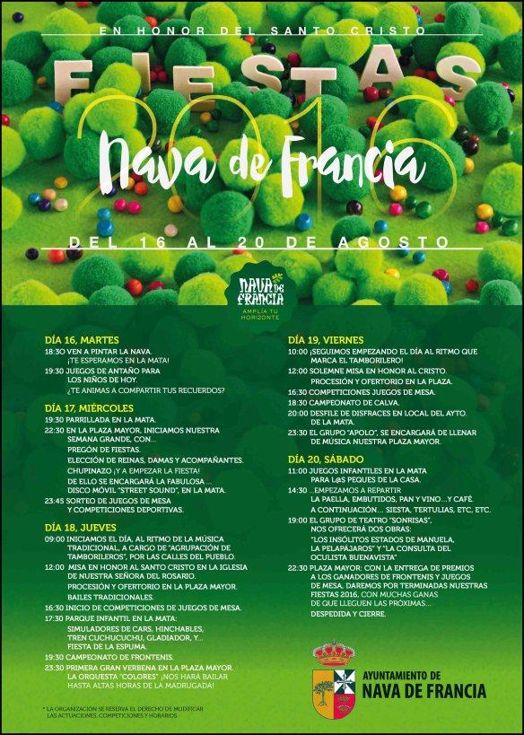 CARTEL FIESTAS NAVA FRANCIA 2016
